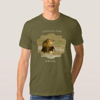 Justicia para Cecil el león matado en África Polera