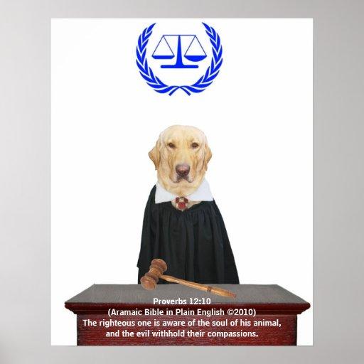 Justicia para los animales póster