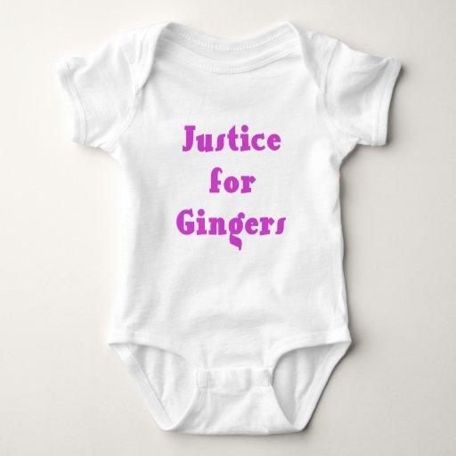 Justicia para los jengibres camisetas