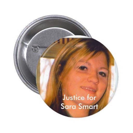 Justicia para Sara Smart Pin Redondo De 2 Pulgadas