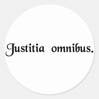 Justicia para todos etiquetas redondas