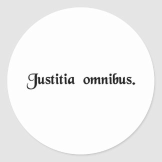 Justicia para todos pegatinas redondas