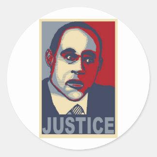 Justicia Pegatina Redonda