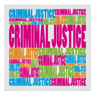 Justicia penal colorida impresiones