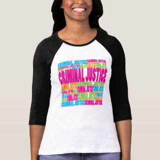 Justicia penal colorida camiseta