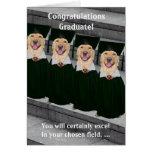 Justicia penal de la graduación tarjeta de felicitación