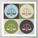 Justicia penal del arte pop poster