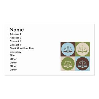 Justicia penal del arte pop plantilla de tarjeta personal