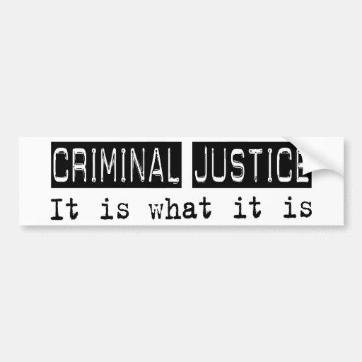 Justicia penal es etiqueta de parachoque
