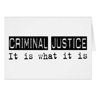 Justicia penal es tarjeta