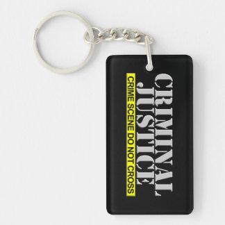 Justicia penal (personalizable) llavero rectangular acrílico a doble cara