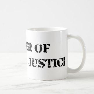 Justicia penal tazas de café