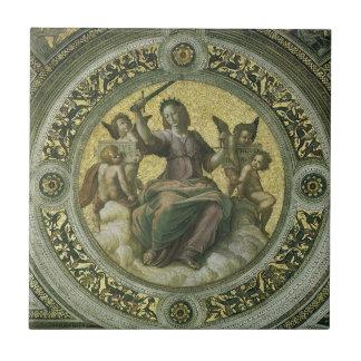 Justicia por Raphael, arte renacentista del Azulejo