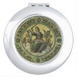 Justicia por Raphael, arte renacentista del Espejos De Maquillaje