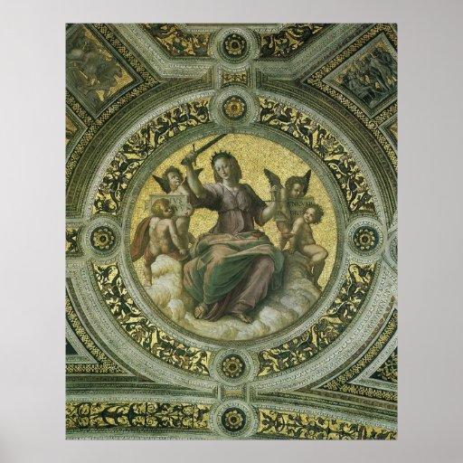 Justicia por Raphael, arte renacentista del Póster