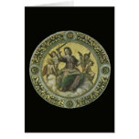 Justicia por Raphael, arte renacentista del Tarjeta De Felicitación
