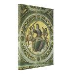 Justicia por Raphael, arte renacentista del vintag Lona Envuelta Para Galerías