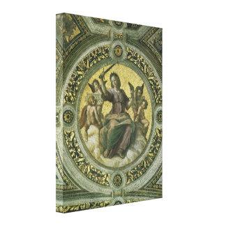 Justicia por Raphael arte renacentista del vintag Lona Envuelta Para Galerías