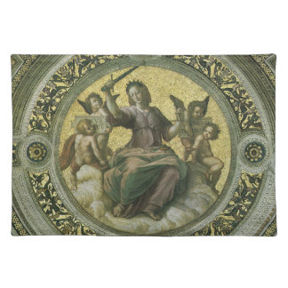 Justicia por Raphael arte renacentista del vintag Manteles