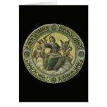 Justicia por Raphael, arte renacentista del vintag Felicitacion