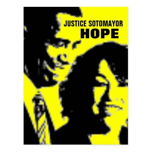 Justicia Sonia Sotomayor Postal