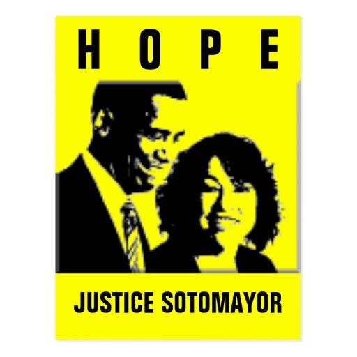 Justicia Sonia Sotomayor Tarjeta Postal