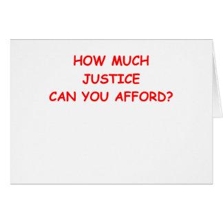 justicia tarjeta de felicitación