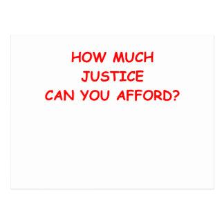 justicia tarjeta postal