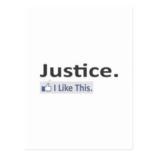 Justicia… tengo gusto de esto postal