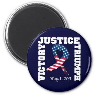 Justicia victoria Triumph 1 de mayo de 2011 Imán Redondo 5 Cm
