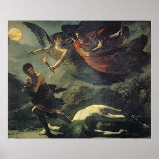Justicia y venganza divina que persiguen crimen póster