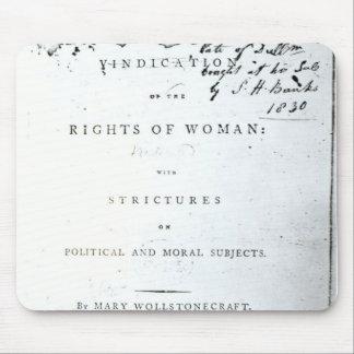 Justificación de las derechas de Woman Alfombrilla De Ratones