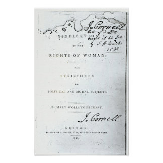Justificación de las derechas de Woman Póster