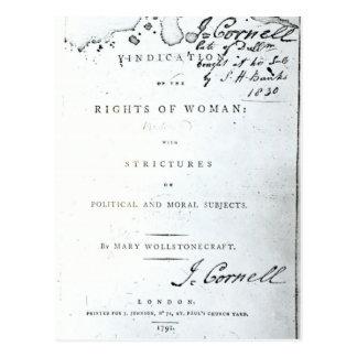 Justificación de las derechas de Woman Tarjeta Postal