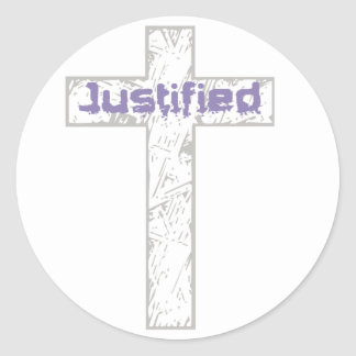 Justified Gris Lilas Classic Round Sticker