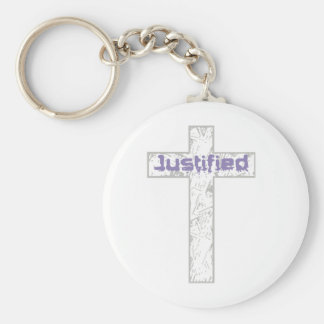 Justified Gris Lilas Keychain