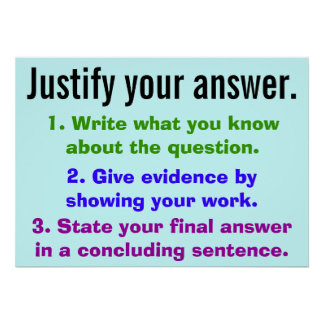 Justify your answer poster