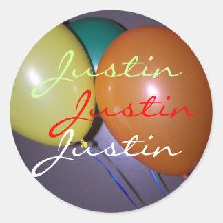justin balloons sticker