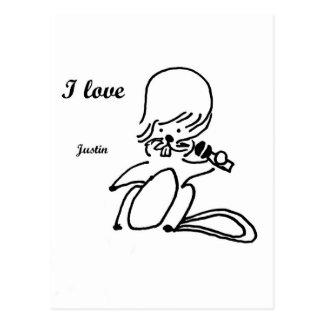 Justin Beaver Postcard