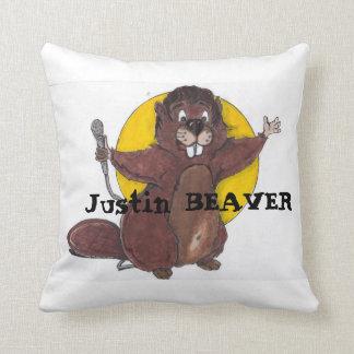 justin beaver throw pillow