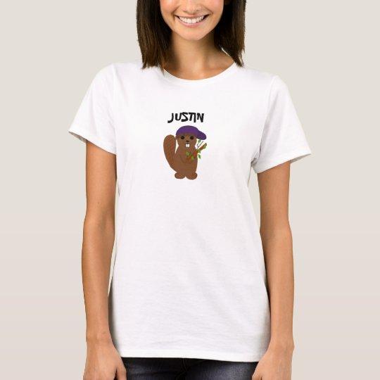 Justin Cartoon Beaver T-Shirt