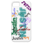 Justin Case iPhone 5 Name Case