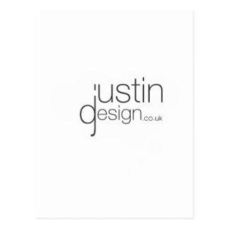 Justin design white postcard
