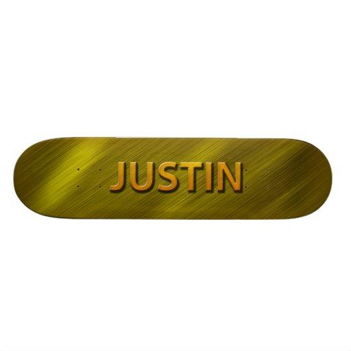 justin gold custom skateboard