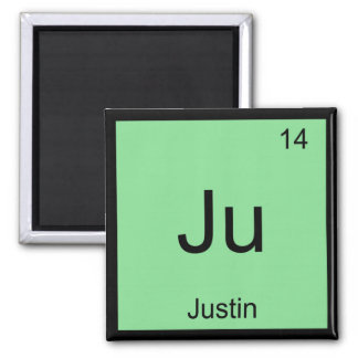 Justin Name Chemistry Element Periodic Table Magnet