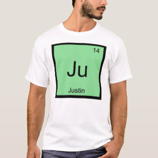 Justin  Name Chemistry Element Periodic Table T-Shirt