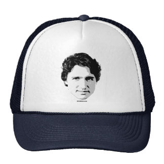 Justin Trudeau Head of Hair -.png Trucker Hat