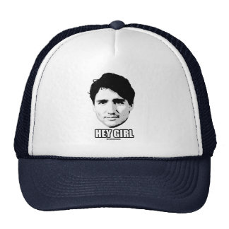 Justin Trudeau - Hey Girl --.png Trucker Hat