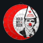 "Justin Trudeau Hold my Beer Clown Canada Clown Gam Dartboard With Darts<br><div class=""desc"">Justin Trudeau Hold my Beer Clown Canada Clown Game</div>"
