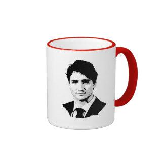 Justin Trudeau Portrait Ringer Coffee Mug